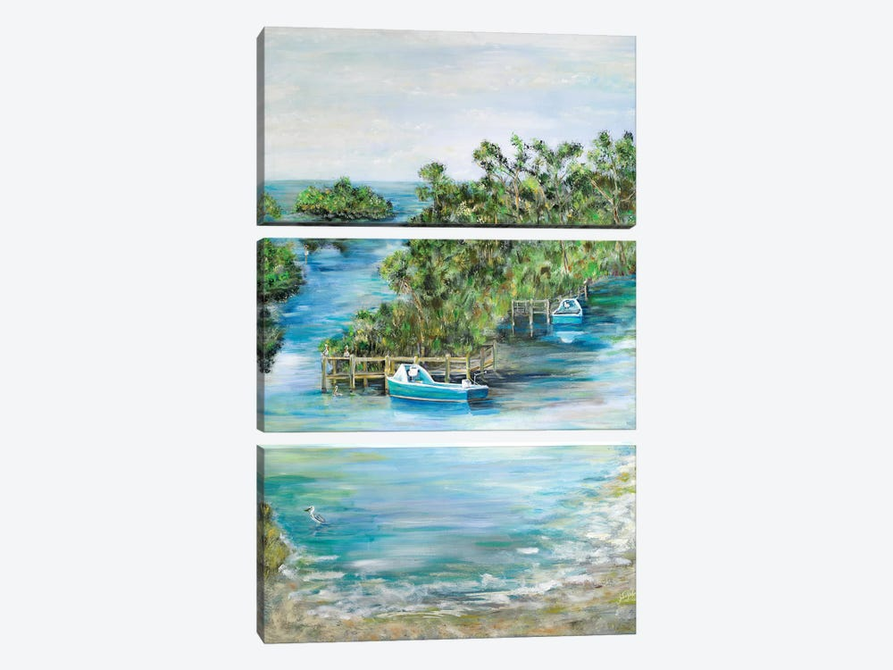 Florida Scene by Julie Derice 3-piece Canvas Art