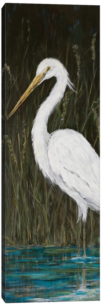 White Egret Canvas Art Print