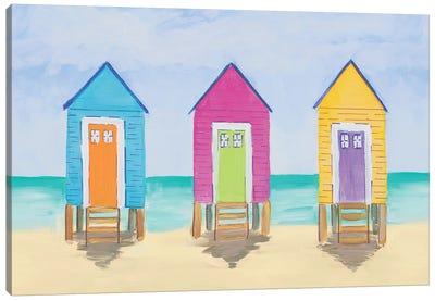 Beach Shacks Canvas Art Print
