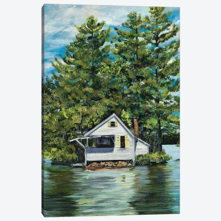 Lake House Canvas Print #DRC197} by Julie Derice Canvas Artwork