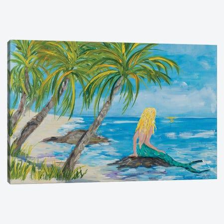 Mermaid Beach Canvas Print #DRC198} by Julie Derice Canvas Art Print