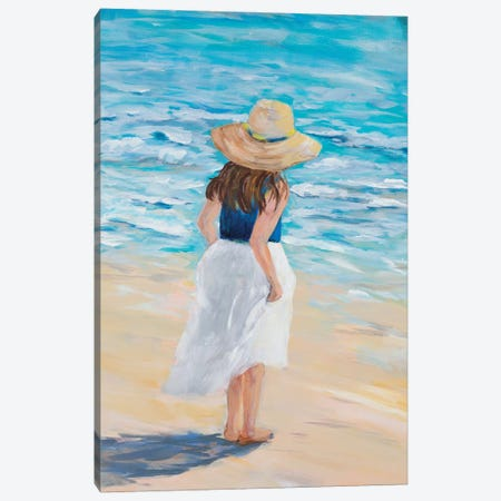 Beach Lady Canvas Print #DRC203} by Julie Derice Art Print