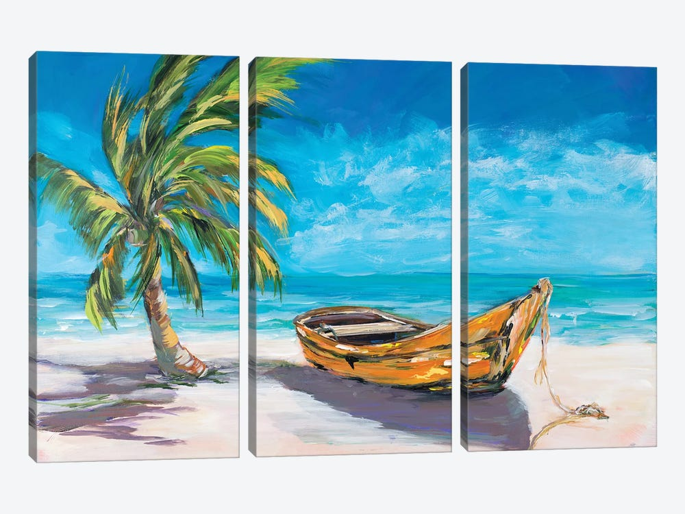 Lost Island II by Julie Derice 3-piece Canvas Art Print