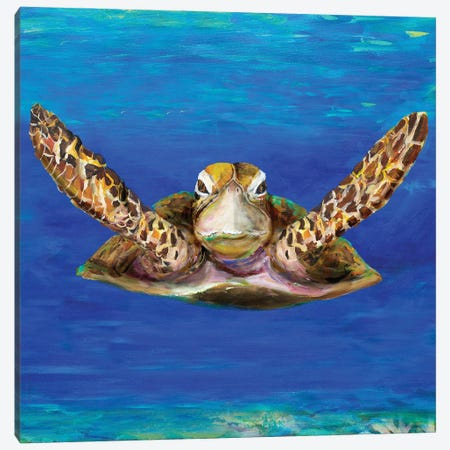 On The Swim Canvas Print #DRC210} by Julie Derice Canvas Artwork