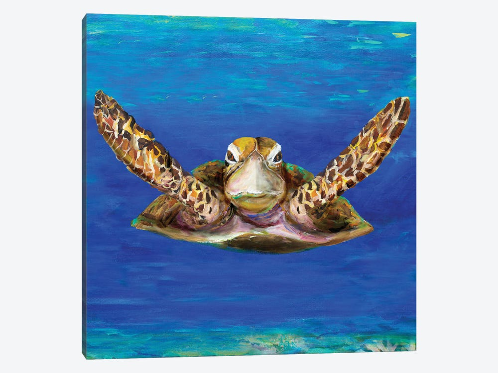 On The Swim by Julie Derice 1-piece Canvas Wall Art