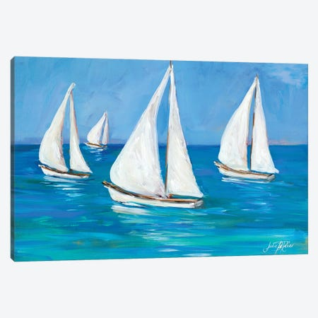 Sailboats I Canvas Print #DRC213} by Julie Derice Canvas Artwork