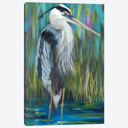Standing Still Heron I Canvas Print #DRC217} by Julie Derice Art Print