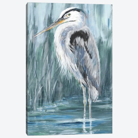 Standing Still Heron II Canvas Print #DRC218} by Julie Derice Canvas Artwork