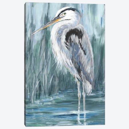 Standing Still Heron II Canvas Print #DRC218} by Julie Derice Canvas Artwork