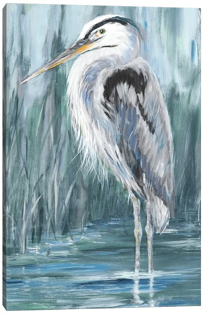 Standing Still Heron II Canvas Art Print