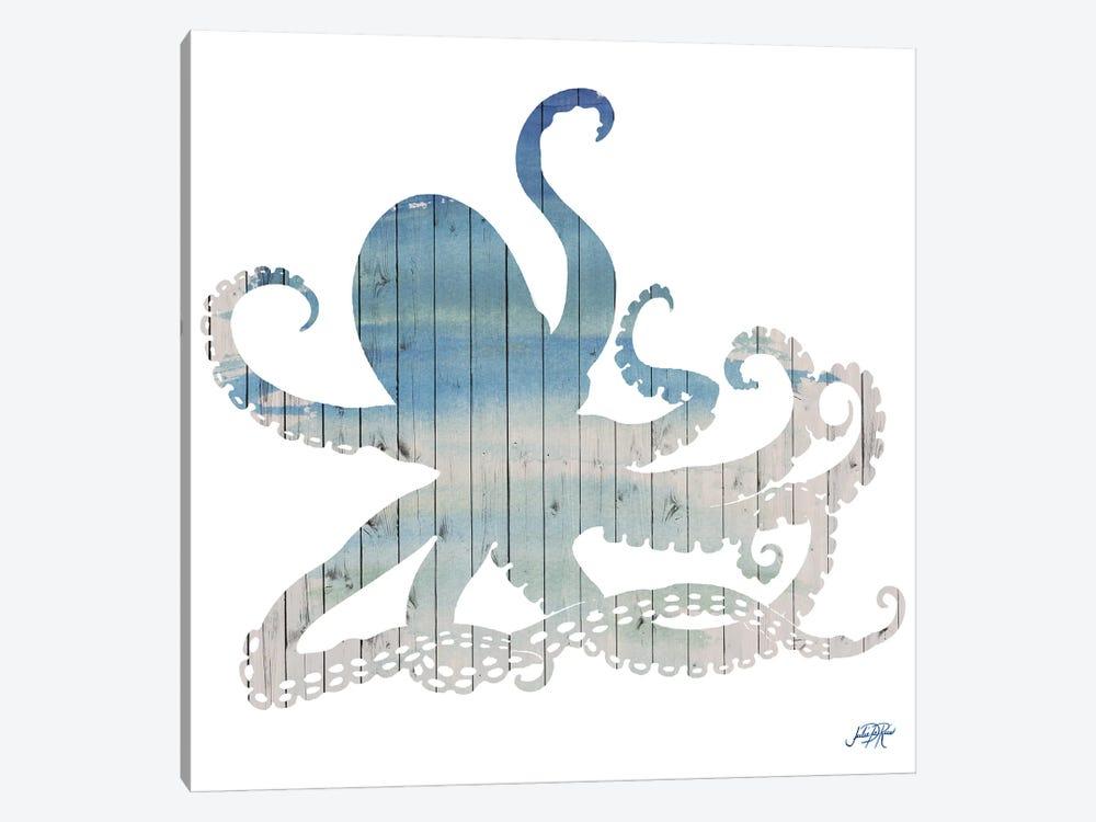 Wooden Octopus by Julie Derice 1-piece Canvas Artwork