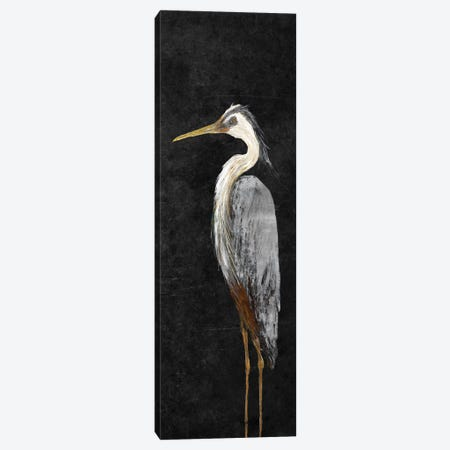 Heron on Black I Canvas Print #DRC23} by Julie Derice Canvas Art