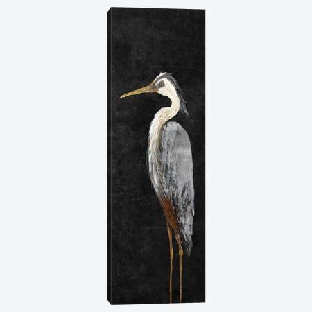 Heron on Black I Canvas Print #DRC23} by Julie Derice Canvas Art