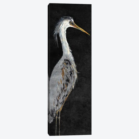 Heron on Black II Canvas Print #DRC24} by Julie Derice Art Print