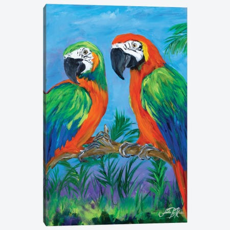 Island Birds I Canvas Print #DRC27} by Julie Derice Canvas Art Print