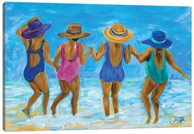 Ladies on the Beach I Canvas Art Print