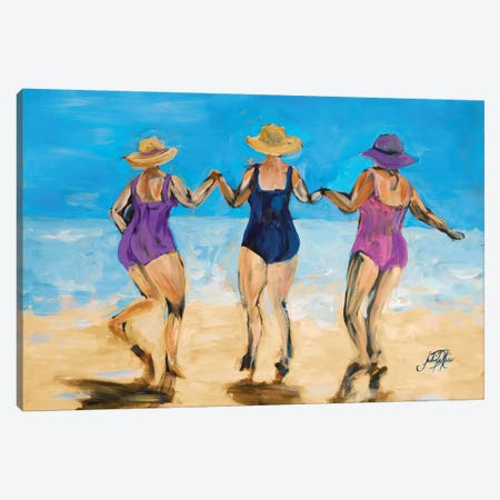 Ladies on the Beach II Canvas Print #DRC31} by Julie Derice Canvas Art Print