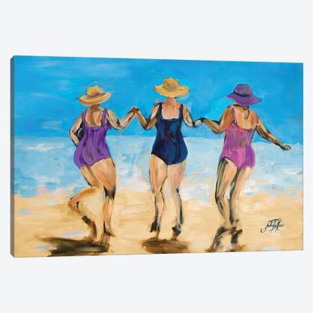 Ladies on the Beach II Canvas Print #DRC31} by Julie Derice Canvas Art Print
