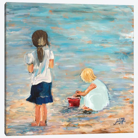 Memories of the Shore Canvas Print #DRC37} by Julie Derice Canvas Artwork