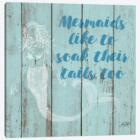 Mermaid Saying II 3-Piece Canvas #DRC39} by Julie Derice Canvas Print