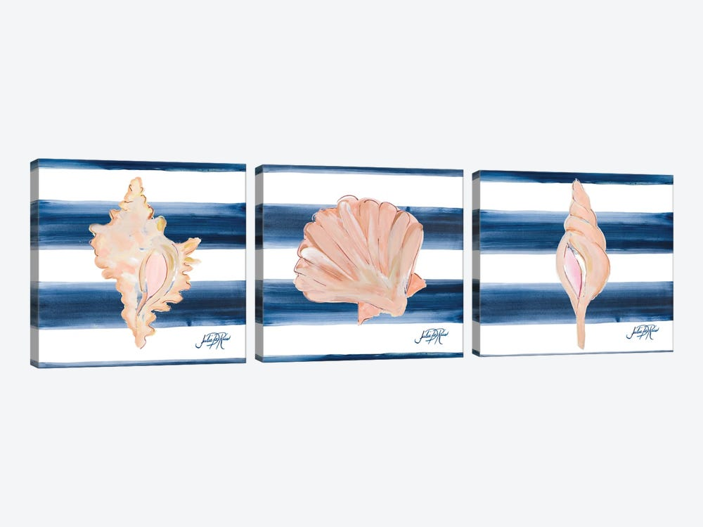 Nautical Shell Triptych by Julie Derice 3-piece Canvas Print