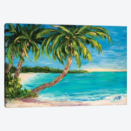 Palm Cove Canvas Print #DRC41} by Julie Derice Canvas Art