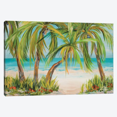 Palm Life Canvas Print #DRC42} by Julie Derice Canvas Art