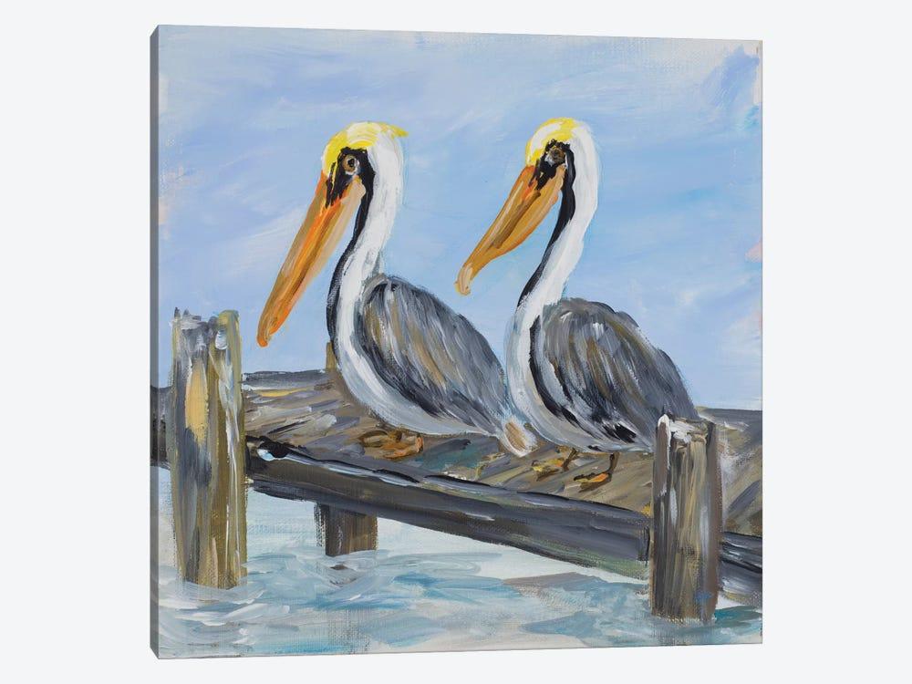 Pelicans on Deck by Julie Derice 1-piece Art Print