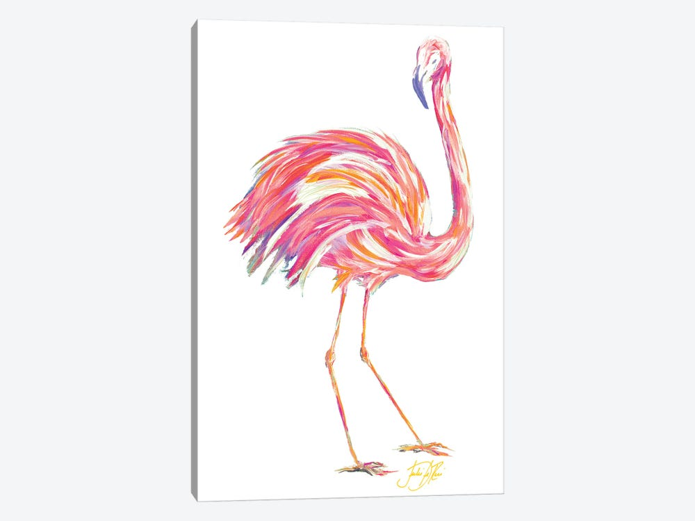 Punchy Flamingo II by Julie Derice 1-piece Canvas Art Print