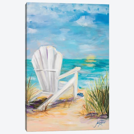 Relax in the Beach Breeze Canvas Print #DRC47} by Julie Derice Art Print