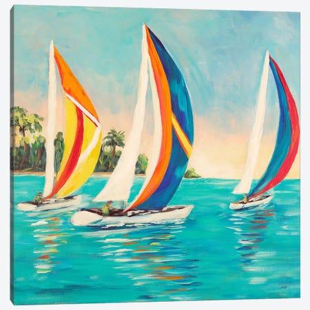 Sunset Sails I Canvas Print #DRC53} by Julie Derice Canvas Art Print