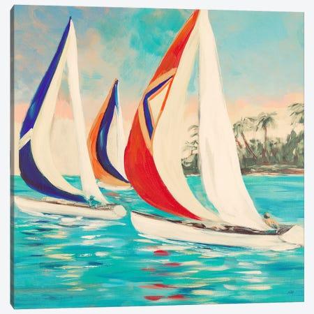 Sunset Sails II Canvas Print #DRC54} by Julie Derice Canvas Artwork