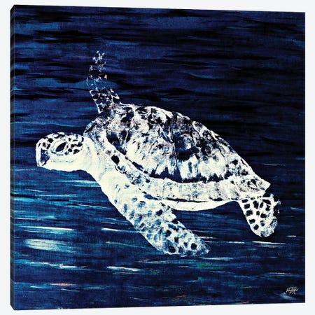 Swim Along I Canvas Print #DRC56} by Julie Derice Canvas Wall Art