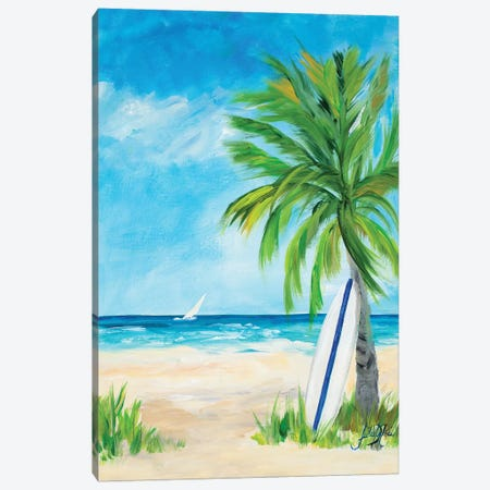 Tropical Surf I Canvas Print #DRC60} by Julie Derice Canvas Wall Art