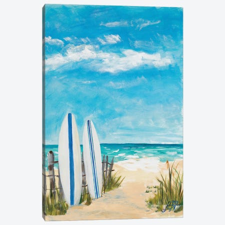 Tropical Surf II Canvas Print #DRC61} by Julie Derice Canvas Wall Art