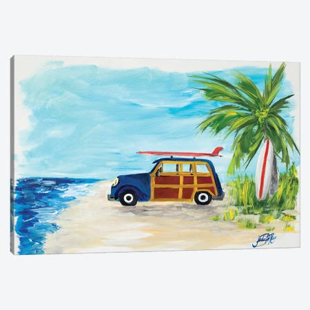 Tropical Vacation I Canvas Print #DRC62} by Julie Derice Canvas Wall Art