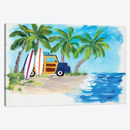 Tropical Vacation II Canvas Print #DRC63} by Julie Derice Canvas Wall Art