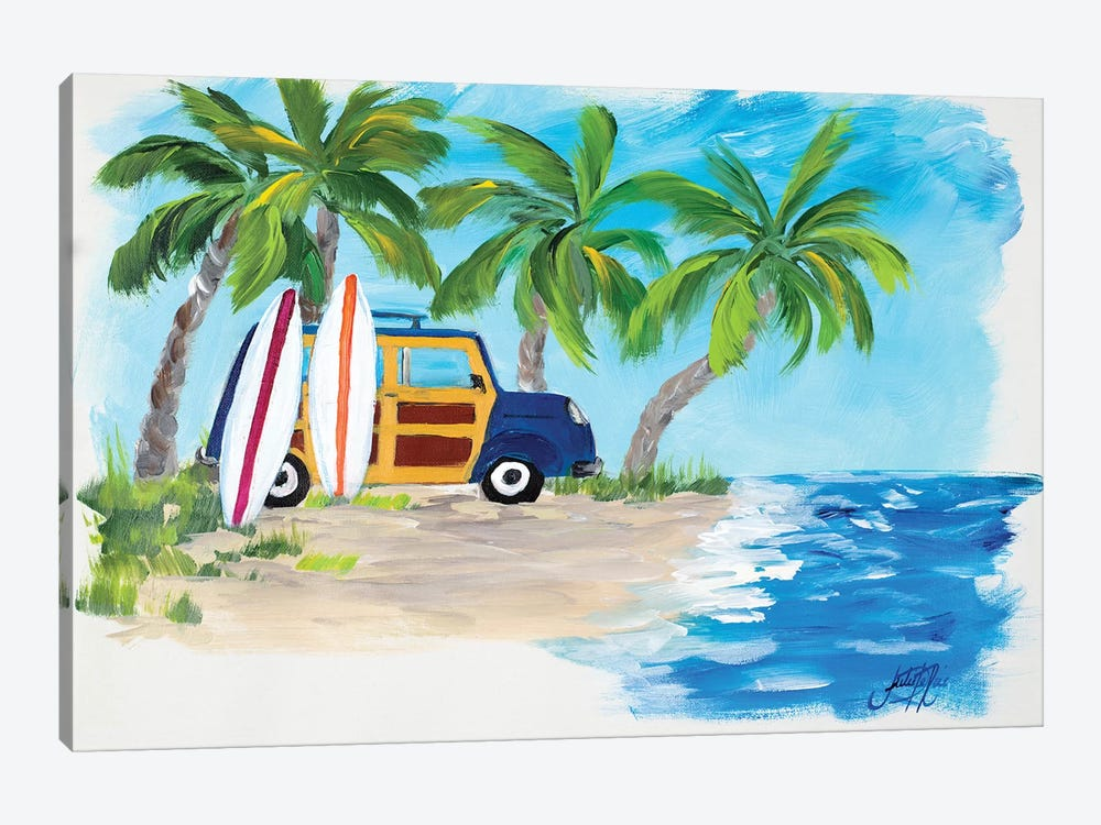 Tropical Vacation II by Julie Derice 1-piece Canvas Artwork