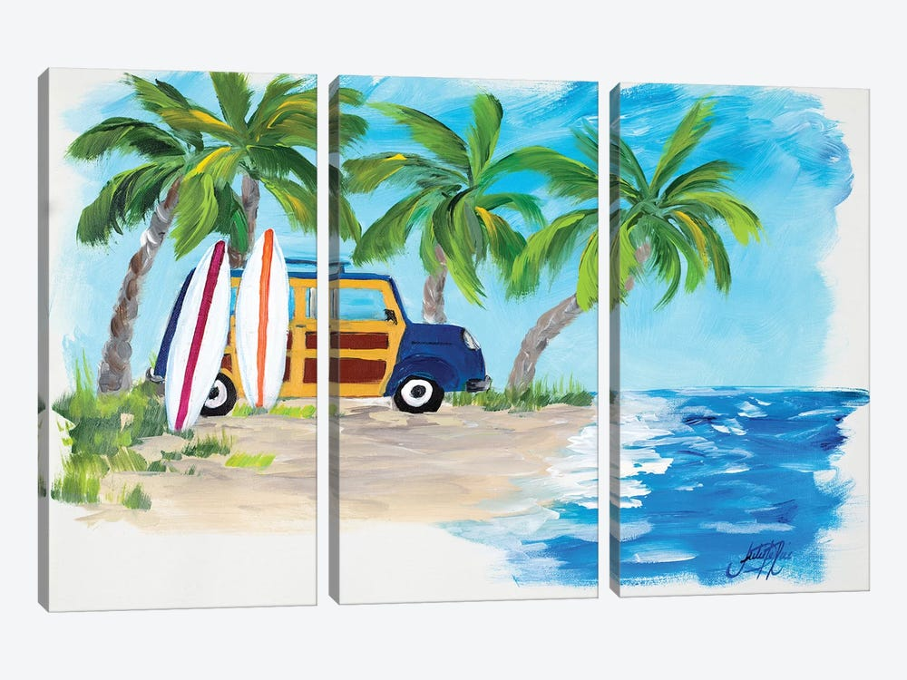 Tropical Vacation II by Julie Derice 3-piece Canvas Art
