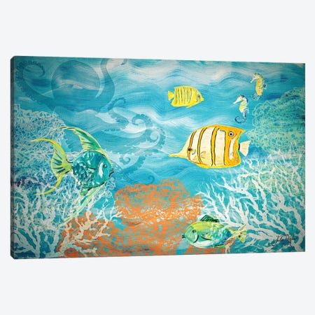 Under the Sea Canvas Print #DRC66} by Julie Derice Canvas Print