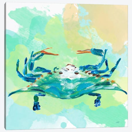 Watercolor Sea Creatures I Canvas Print #DRC69} by Julie Derice Canvas Art