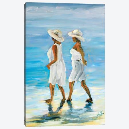 Women on Beach I Canvas Print #DRC76} by Julie Derice Canvas Art