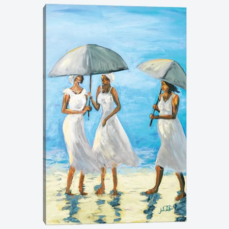 Women on Beach II Canvas Print #DRC77} by Julie Derice Canvas Art