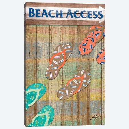 Woody Beach Access Canvas Print #DRC79} by Julie Derice Art Print