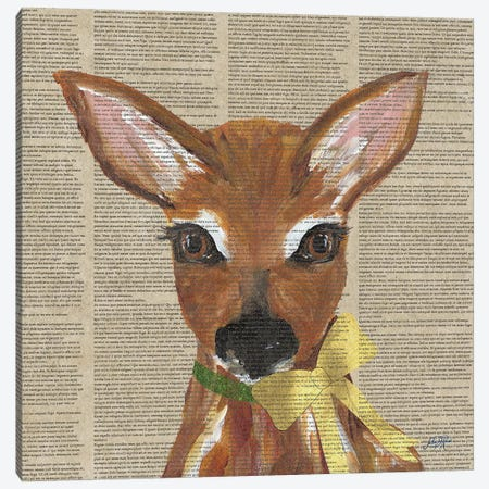 Holiday Animal II Canvas Print #DRC80} by Julie Derice Canvas Artwork