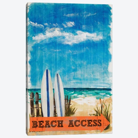 Beach Access Canvas Print #DRC88} by Julie Derice Canvas Wall Art