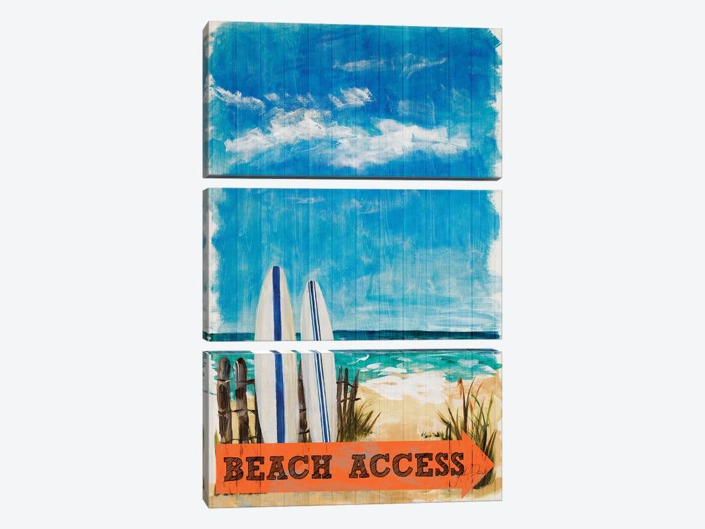 Beach Access by Julie Derice 3-piece Canvas Art Print