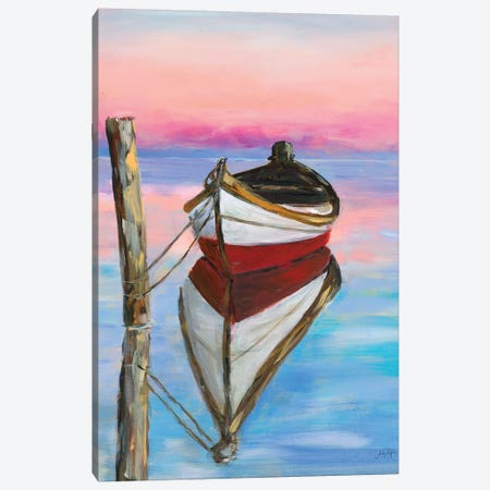 Canoe Reflection Canvas Print #DRC90} by Julie Derice Art Print