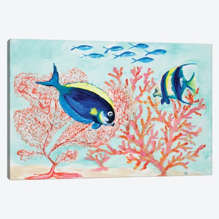 Coral Reef I Canvas Print #DRC96} by Julie Derice Canvas Artwork