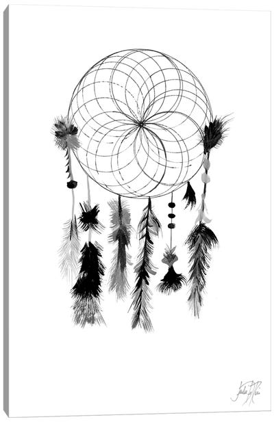 Dark Midnight Dream Catcher I Canvas Art Print